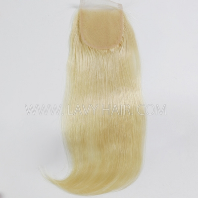 "Lace top closure 4*4"" Straight  #613 Human hair medium brown Swiss lace"