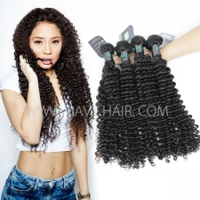 Regular Grade mix 3 or 4 bundles Brazilian Deep Curly Virgin Human Hair Extensions