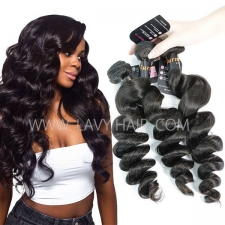 Superior Grade mix 3 or 4 bundles Burmese loose wave Virgin Human hair extensions