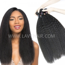 Superior Grade mix 3 or 4 bundles Malaysian Kinky Straight Virgin Human hair extensions