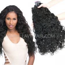 Superior Grade mix 3 or 4 bundles Indian Natural Wave Virgin Human Hair Extensions