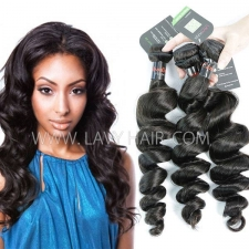 Regular Grade mix 3 or 4 bundles Cambodian Loose Wave Virgin Human hair extensions