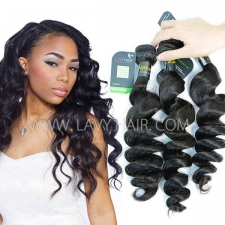 Regular Grade mix 3 or 4 bundles European Loose Wave Virgin Human hair extensions