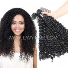 Superior Grade mix 3 or 4 bundles Burmese Deep Curly Virgin Human Hair Extensions