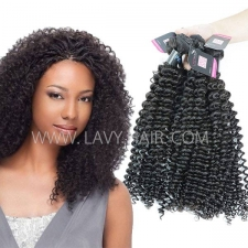 Superior Grade mix 3 or 4 bundles Peruvian Deep Curly Virgin Human Hair Extensions