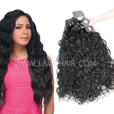 Superior Grade mix 3 or 4 bundles European natural wave Virgin Human hair extensions
