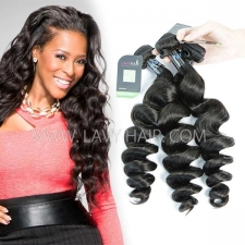 Regular Grade mix 3 or 4 bundles Peruvian loose wave Virgin Human Hair Extensions