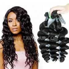 Regular Grade mix 3 or 4 bundles Brazilian Loose Wave Virgin Human hair extensions