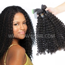 Regular Grade mix 3 or 4 bundles Indian Deep Curly Virgin Human Hair Extensions