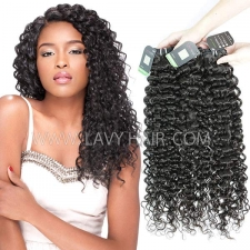 Regular Grade mix 3 or 4 bundles Brazilian Italian Curly Virgin Human Hair Extensions