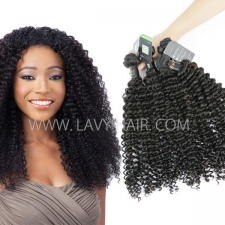 Regular Grade mix 3 or 4 bundles Burmese Deep Curly Virgin Human Hair Extensions