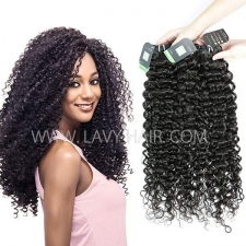 Regular Grade mix 3 or 4 bundles Burmese Italian Curly Virgin Human Hair Extensions