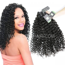 Regular Grade mix 3 or 4 bundles Malaysian Italian Curly Virgin Human Hair Extensions