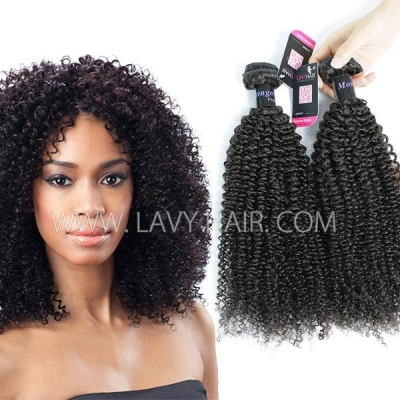 Superior Grade mix 3 or 4 bundles Mongolian Kinky Curly Virgin Human hair extensions