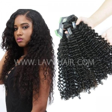 Regular Grade mix 3 or 4 bundles Peruvian Deep Curly Virgin Human Hair Extensions