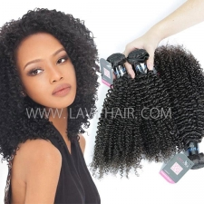 Superior Grade mix 3 or 4 bundles Peruvian Kinky Curly Virgin Human hair extensions