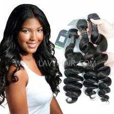Regular Grade mix 3 or 4 bundles Indian Loose Wave Virgin Human hair extensions