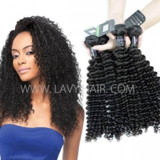 Regular Grade mix 3 or 4 bundles Mongolian Deep Curly Virgin Human Hair Extensions