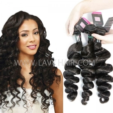 Superior Grade mix 3 or 4 bundles Brazilian loose wave Virgin Human hair extensions