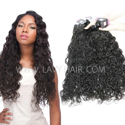 Superior Grade mix 3 or 4 bundles Brazilian natural wave Virgin Human hair extensions