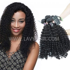 Regular Grade mix 3 or 4 bundles Malaysian Deep Curly Virgin Human Hair Extensions