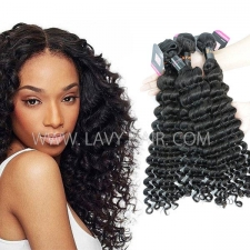 Superior Grade mix 3 or 4 bundles Burmese  Deep wave Virgin Human Hair Extensions
