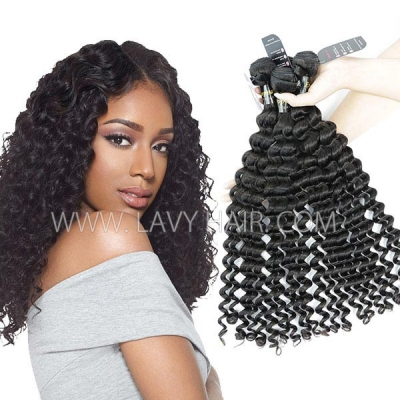 Superior Grade mix 3 or 4 bundles European deep wave Virgin Human Hair Extensions