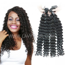 Regular Grade mix 3 or 4 bundles Cambodian Deep wave Virgin Human Hair Extensions