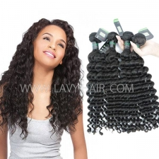 Regular Grade mix 3 or 4 bundles Brazilian Deep wave Virgin Human Hair Extensions