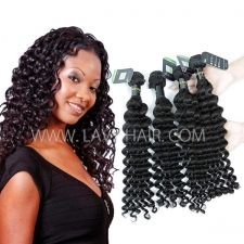 Regular Grade mix 3 or 4 bundles European Deep wave Virgin Human Hair Extensions