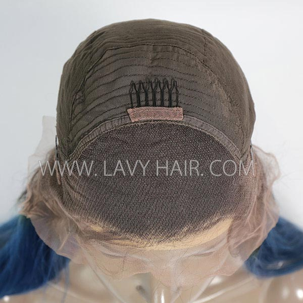 1B/Blue Color Lace Frontal Wig Straight Hair Human Hair