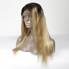 100% Human hair Ombre lace front wig straight hair 1B/27 color
