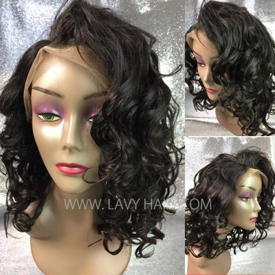 180% Density Full Lace Bob Wigs Human Wave Hair FWS02