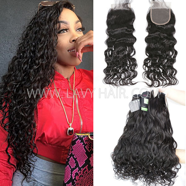 Grade mix 3 bundles with lace closure indian natural wave virgin regular grade mix 3 bundles with lace closure indian natural wave virgin human hair extensions pmusecretfo Choice Image