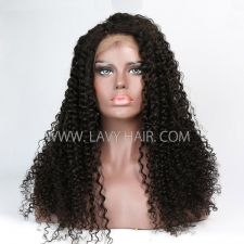#1B 100% Human hair lace front wigs 180% density Jerry Curly