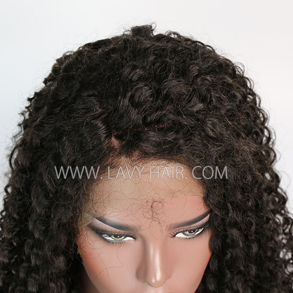 Lace Frontal Wigs 180% Density Jerry Curly Human Hair