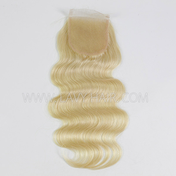 "Lace top closure 4*4"" body wave #613 Human hair medium brown Swiss lace"