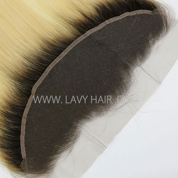 #1b/613 Ear to ear 13x4 Lace Frontal Straight Human hair