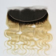 #1b/613 Ear to ear 13x4 Lace Frontal Body Wave Human hair