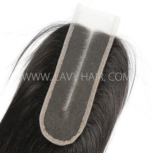 "Lace top closure 2*6"" Straight Hair Human hair medium brown Swiss lace"