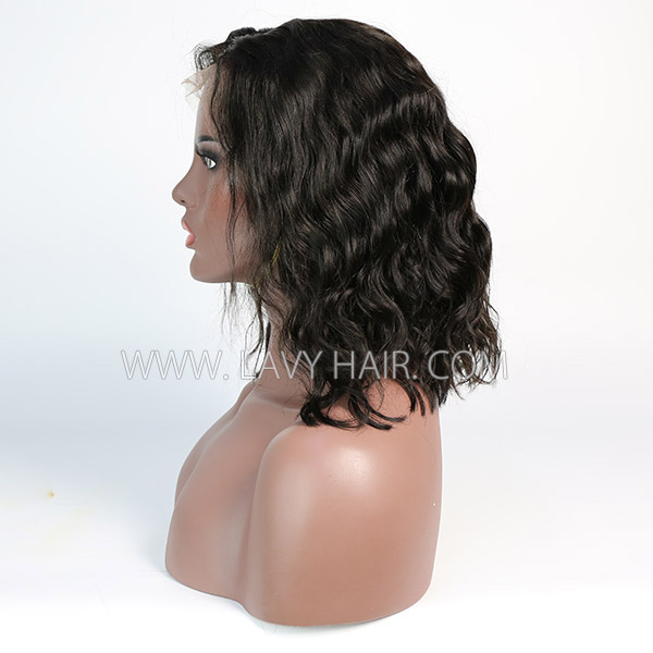 Lace Frontal Bob Wig 150% Density Natural Wave Human Hair