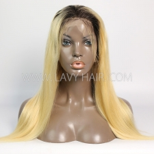 #1B/613 Blonde Lace Front  Wigs 130% Density Straight Hair Human Hair