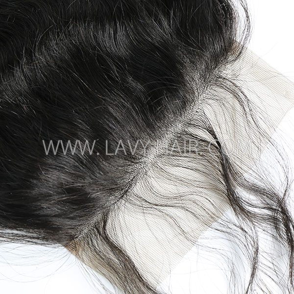 "Lace top closure 5*5"" natural wave Human hair medium brown Swiss lace"