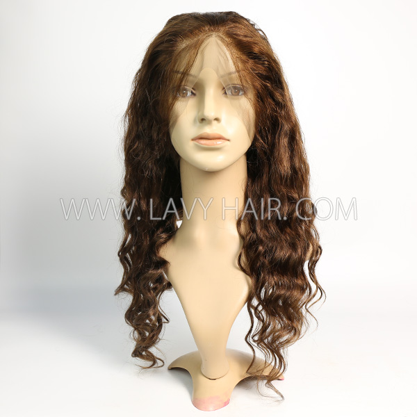 4# 130% Density Full Lace Wigs Loose Wave Human Hair