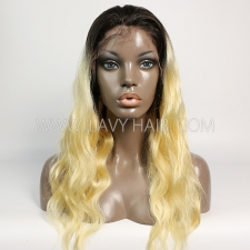 #1B/613 Blonde Lace Front  Wigs 130% Density Body Wave Hair Human Hair