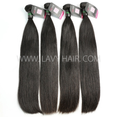 Double Drawn Superior Grade 3/4 bundles Straight Virgin Human Hair Brazilian Peruvian Malaysian Indian European Cambodian Burmese Mongolian