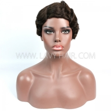 150% Density Bob Wig Wave Human Hair RE3WS-113H2