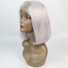 Grey Color Lace Frontal Bob Wig 150% Density Straight Hair Human hair
