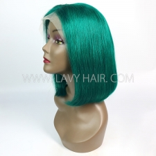 Emerald ColorLace Frontal Bob Wig 150% Density Straight Hair Human hair