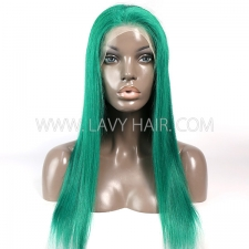Emerald  Color Lace Frontal wig Straight Hair Human Hair